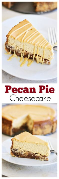 Pecan Pie Cheesecake – rich, creamy, and sinfully decadent cheesecake loaded with pecan and syrup. Absolutely amazing recipe @FMSCLiving | rasamalaysia.com