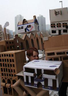 wearable cardboard city costume mathijs stegink cardboarders.com