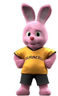 Duracell Bunny die het merk warmte en persoonlijkheid geeft.