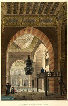 Interior, prayer hall, Complex of Sultan Qaytbay, Architecture arabe, 1818-1826