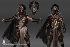 Assassin's Creed: Origins character concept art by Jeff Simpson Fantasy Character Design, Character Concept, Character Art, Character Creation, Character Outfits, Fantasy Armor, Medieval Fantasy, Assassins Creed Origins, Armadura Medieval