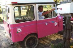 Pink Power Postal Jeep by ruralinfo.net, via Flickr