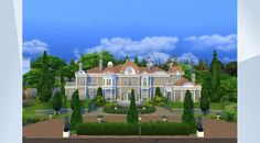 Check out this lot in The Sims 4 Gallery! - A luxurious #mansion for the well-to-do sim family. The home features a large #library, #artstudio, #gym, and grounds with formal gardens. #NoCC Created by #Fischio