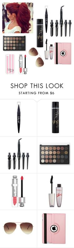 """""""Untitled #198"""" by eliyanakubelis on Polyvore featuring beauty, Maybelline, GHD, Christian Dior, Rimmel, Forever 21, Natico and Victoria's Secret"""