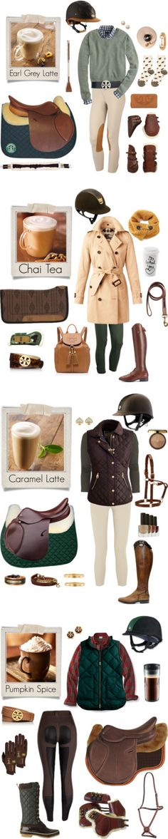 Starbucks inspired equestrian sets by equine-couture on Polyvore featuring mode, Polaroid, J.Crew, Tory Burch, Hansel from Basel, Burberry, Ariat, Brooks Brothers, equestrian and equine
