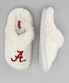 Take a look at this Campus Footnotes Cream Alabama Slipper - Kids by Campus Footnotes on #zulily today!    For my Lil' Bama Girl!