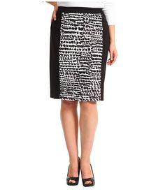 Calvin Klein Plus Size Mixed Print Skirt