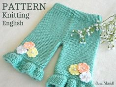 Knitting PATTERN Baby Pants Knitted Baby Pants Pattern Baby Girl Pants Garter Stitch Baby Clothes Newborn Pattern Knitted Baby Girl Outfit - Under Wear Baby Cardigan, Knit Baby Pants, Baby Pants Pattern, Cardigan Bebe, Baby Sweater Patterns, Baby Girl Pants, Knit Baby Sweaters, Baby Knitting Patterns, Baby Patterns