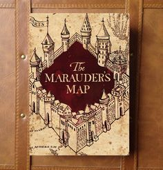 Harry Potter Marauders Map Book Guestbook, Scrapbook, Photo Album by CleanCupMoveDown on Etsy