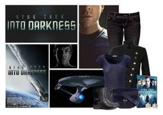 """""""Star Trek Into Darkness: Spock"""" by ameve ❤ liked on Polyvore featuring Miss Me, French Connection, American Vintage, Hermès, H&M, women's clothing, women's fashion, women, female and woman"""