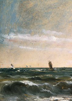 John Constable, Coast Scene, Brighton (detail), 1824-8