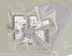 Gallery of KEPCO Headquarters Competition proposal / H Associates - 1 Concept Models Architecture, Revit Architecture, Architecture Drawings, Innovation Centre, Arch Model, Graduation Project, Basement Plans, 3d Max, Master Plan
