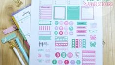 Days of May Planner Stickers - Free Printable