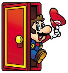 Mario emerging from the door that leads to Subcon from the official artwork set for #SuperMarioBros2 on the #NES. #SuperMario #SuperMarioBros #Retrogames. Visit for more info http://www.superluigibros.com/super-mario-bros-2-nes