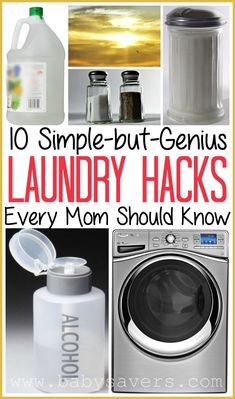 10 genius top laundry hacks every mom should know. Love these stain removal tips and other laundry ideas.