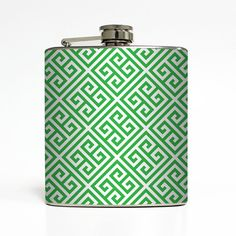 Hey, I found this really awesome Etsy listing at https://www.etsy.com/listing/165456326/greek-key-flask-custom-color-21-sorority