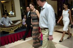 Evening reception for Crown Princess Mary during her trip to Myanmar. 1/9/2014