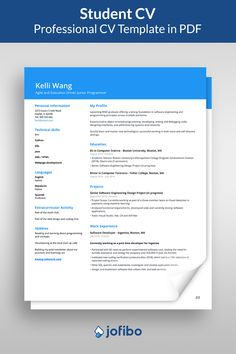 As a student it's important to put emphasis on the projects you've completed and core competencies that you already possess as you have limited work experience #cv #cvtemplate #cvtemplates Student Resume Template, Cv Template, Resume Templates, Core Competencies, Design Language, Professional Resume, Computer Science, Coding, Education