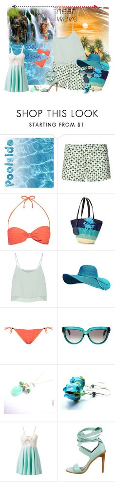 """""""How To Dress For a Heat Wave"""" by belladonnasjoy ❤ liked on Polyvore featuring Milly, Heidi Klein, Rebecca Minkoff, Valentino, Cameo Rose and TIBI"""