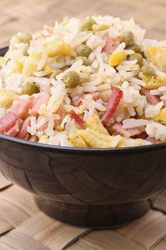 """Microwave """"Fried"""" Rice"""