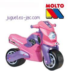 Moto Extreme rosa de Molto a partir de 3 años.
