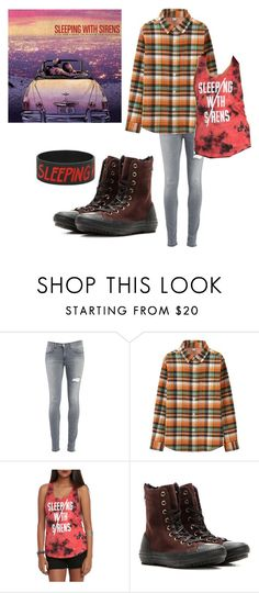 """If you were a movie, this would be your soundtrack/SWS"" by actual-sinnamonrol ❤ liked on Polyvore featuring Dondup, Uniqlo and Converse"