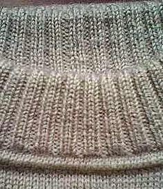 Модели вязания со схемами и описаниями: Как сделать такой аккуратный воротник свитера. Мастер-класс в фото