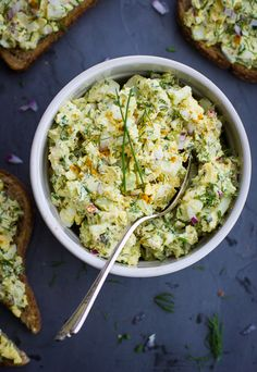 Duck Egg Salad with Curry and Dill