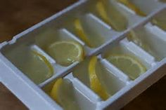 lemon juice ice cubes - Add to water bottle to flavor and keep it cool