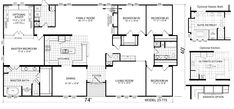 Triple Wide Mobile Home Floor Plans | Manufactured Home and Mobile Home Floor Plans: Welburg