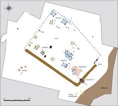 Plan du site de Glisy, les Quatorze