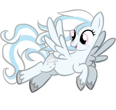 This is Cloud Gust. She loves flying and helping to get rid of the clouds. Comment to adopt.