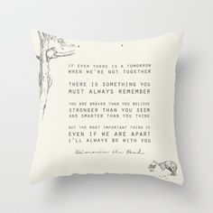Winnie the Pooh Throw Pillow by Zeke Tucker