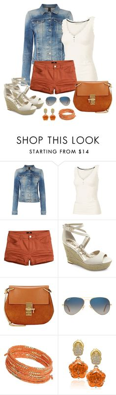 """""""Untitled #1035"""" by gallant81 ❤ liked on Polyvore featuring Calvin Klein, Fat Face, Sam Edelman, Chloé, Ray-Ban, Dorothy Perkins and Suzy Levian"""