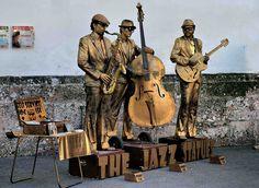 The Jazz Statues Street performers in Innsbruck Austria Innsbruck, Wassily Kandinsky, Jazz, Living Statue, Street Performance, The Wiz, Body Painting, Street Art, Around The Worlds