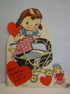 Girl with Dolly and Doll Buggy