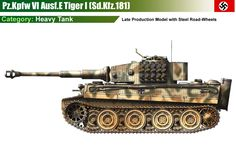 E Tiger (late production model) Camouflage Patterns, War Thunder, Military Armor, Tiger Tank, Engin, Heavy Machinery, Ww2 Tanks, Lifted Ford Trucks, German Army