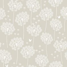 NuWallpaper Dandelion Taupe Peel And Stick Wallpaper | The Home Depot Canada