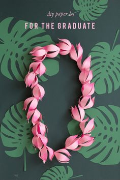 DIY Paper Lei Tutorial with FREE Printable