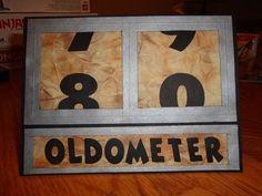 Oldometer card | Scrapbooking | Pinterest