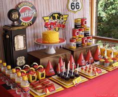 Retro Race Car Birthday {Boy Party Ideas} - Spaceships and Laser Beams Race Car Birthday, Race Car Party, Race Cars, Sport Cars, Car Themed Parties, Cars Birthday Parties, Birthday Hats, Birthday Ideas, 2nd Birthday