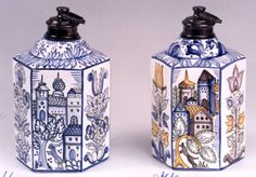 Hungarian Embroidery, Ceramic Pottery, Embroidery Patterns, Jar, Ceramics, Clothing, Home Decor, Blue And White, Painted Porcelain