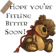 Image result for please feel better soon