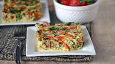 Level 1&2 Slow Cooker Breakfast Frittata  Tip~Sub sausage for bacon. If using breakfast sausage make your own(see recipe pinned on the board)