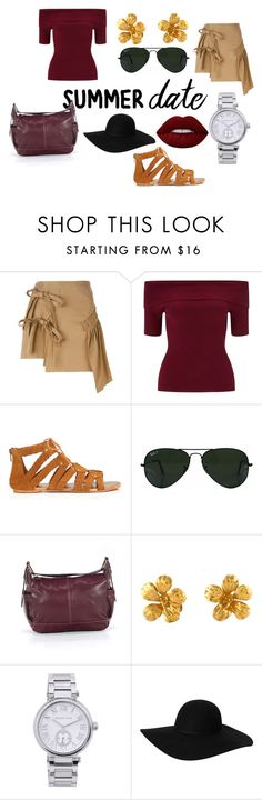 """Unbenannt #15"" by failariel-1 ❤ liked on Polyvore featuring N°21, Miss Selfridge, Ray-Ban, Alex Monroe, MICHAEL Michael Kors, Monki, Lime Crime, summerdate and rooftopbar"