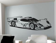 Car Wall Art Race Car 12 x 36 Your Choice of by mancavegraphics