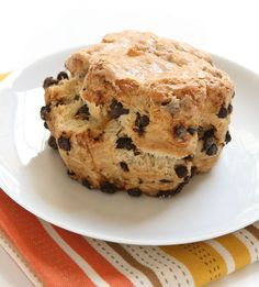 This Chocolate Chip Scones Recipe is great for breakfast or dessert.
