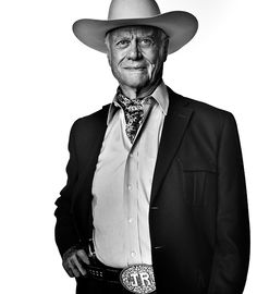Larry Hagman as J.R. Ewing, Los Angeles, April 2012. RiP  Who doesn't love J R.?