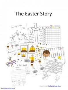 Our Easter Story from AMomentInOurWorld on TeachersNotebook.com -  (53 pages)  -  The Easter Story