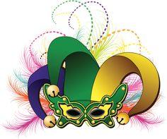 Mardi Gras máscara de bufón